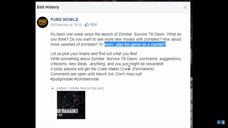 Bocor! PUBG Mobile Bermain Sebagai Zombie?!